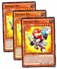 Set 3x DESKBOT 004 CROS-IT035 Comune in Italiano YUGIOH