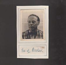 AG Hans Hass / Xarifa-Mitarbeiter Prof.Dr.Ankel (Zoologe) 1954 Foto+Unterschrift
