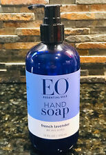 EO Essential Oils Liquid Hand Wash Soap French Lavender 12oz Pump Bottle