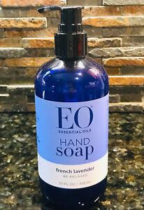 EO Essential Oils Liquid Hand Wash Soap French Lavender 12oz Pump Bottle