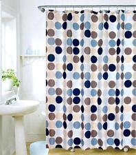 Noir, Bleu et argenté Spottted Design Rideau Douche 180cm x 180cm Polyester