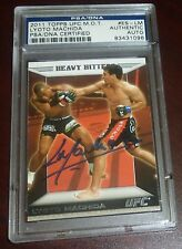 Lyoto Machida Signed UFC 2011 Topps Moment of Truth Insert Card #ES-LM PSA/DNA
