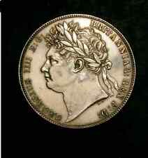 EXCELLENT HIGH GRADE 1820 GEORGE IV HALFCROWN  EXTREMELY FINE LIGHTLY CLEANED
