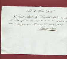 Ricevuta Manoscritta con Autografo di Giovanni Ciardi Sindaco di Prato 1836