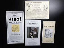 Ensemble de carton d'invitation Salle de vente Boisgirard Tintin