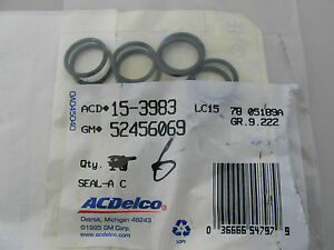 Seal.A/C Lines Seal.Buick,Cadillac,GMC,Pontiac (89-05).Acdelco 15-3983. Lot of 6