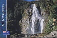 Postkarte: Bowen Falls, Milford Sound, Neuseeland