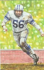 Joe Schmidt Detroit Lions unsigned Goal Line Art Card in Toploader
