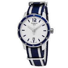 Tissot Men's Quickster Blue White Nylon Strap Swiss Quartz Watch T0954101703701