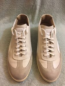 Puma Black Label Italy White Ivory LEATHER Sneakers Mens Shoes Sz EU 41US 8