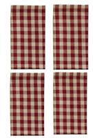 Park Designs Crochet Red Gingham Cloth Napkins, Set of 4