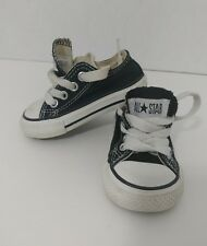 Converse All Star Baby Black Sz 3 Boy Girl Infant Baby Toddler