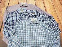 Lot 4 THOMAS DEAN Flip Cuff Men's Medium Long Sleeve Button Down Shirts