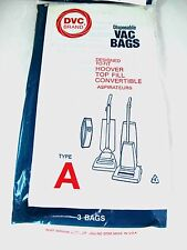 Dvc Brand Disposable Vacuum Bags 3/pk - Hoover Style A