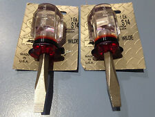 2 X Wilde Tool S14  6.5mm  X  47mm  Stub Slot Screw Driver Carded  Made in USA