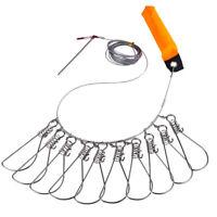 New Fishing Stringer Clip Stainless Steel Kayak Fish Stringer Fish Lock / Holder
