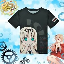 Anime Kantai Collection Yudachi Casual Shirt Sport Short Sleeve T-shirt Tee Top