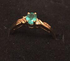 18ct Gold Emerald & Diamond Ring NEW RRP £750