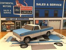 Papercraft 1969 Ford Ranger Paper Model pickup truck EZU-build paper toy