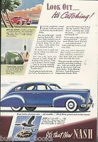 1939 NASH advertisement page, Nash Motors sedan, color artwork