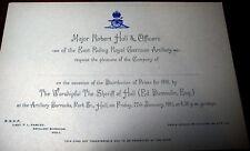 Pre WW1 Army prize invitation East Riding Royal Garrison Artillery Barracks Hull