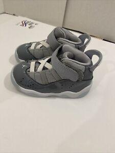 Air Jordan 6 Rings Toddler Cool Grey/white Wolf Size Us 6C (323420-015)