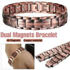 Magnetic COPPER Bracelet Therapy Arthritis Pain Relief Bangle Mens 99% PURE