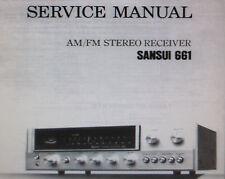 sansui 661 stereo receiver service manual inkl. schemata bedruckt gebunden englisch