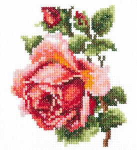 Magic Needle Cross Stitch - Small Rose