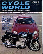 Cycle World Magazine March 1968 MV 600 Four Suzuki EX No ML 030217nonjhe