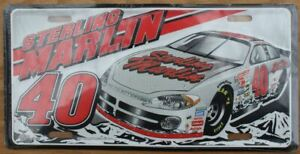 Sterling Marlin #40 NASCAR Coors Light Racing License Plate NEW Sealed