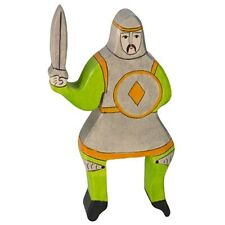 Holztiger - Ritter reitend mit erhobenem Schwert - Grün - ohne Pferd
