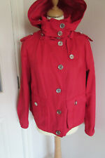 Nine West women's short Red removeable hooded Raincoat size 14