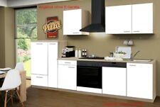 Küchenzeile ohne Elektrogeräte Einbauküche ohne E-Geräte Küche 310 cm weiss
