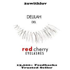 RED CHERRY 100% HUMAN HAIR BLACK FALSE EYE LASHES #DEL BRAND NEW