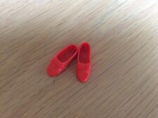 Vintage Pedigree Sindy Clothes FLAT RED LOAFER SHOES