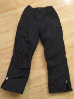 Boy's or Girl's Land's End Insulated Snowboard Snow Ski Pants Navy Blue Size 12