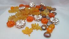 Fall / Halloween 7oz. Acrylic Pumpkin & Leaf Gems Vase Fillers / Table Scatter