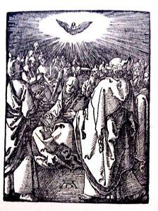 Albrecht Durer 3.7x4.9 plate signed engraving Jesus fine detail 6