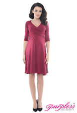 Purpless 3/4 Sleeve Pregnancy Maternity Casual Vneck Women's Dress Top D4400