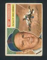 1956 Topps #165 Red Schoendienst VGEX Cardinals 94521