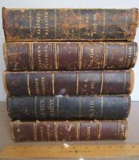 Harper's Magazine Library Bound 5 volumes 1858 1870 71 1879 1987 88 illustrated