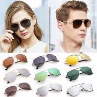 Aviator Sunglasses For Men Women Outdoor Driving Eyewear Sport Case  Mirror Lens