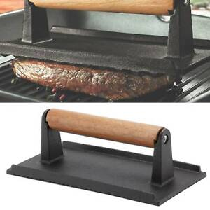 Cast Iron Steak Weight Heavy Duty Burger Press Bacon Press Grill Summer BBQ Gift