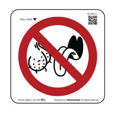 """No Bag Lickers V1 (5 Pack) HardHat Printed Sticker (size: 2"""" color: W/R/B)"""