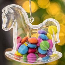x 50 Transparent Cheval À Bascule En forme de Noël Décorations Vide à remplir