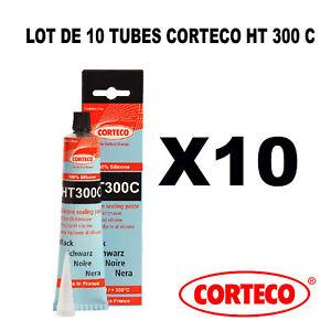 10 PÂTE À JOINT NOIRE ÉLASTOMÈRE 100% SILICONE 300°C CORTECO HT300C