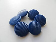 1950s Vintage Sm Lines Royal Blue Dress Jacket Craft Collectible Buttons-16mm