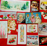 89 VINTAGE CHRISTMAS CARD FRONTS - CARD LOT #55 - JUNK JOURNAL- CHRISTMAS FRONTS