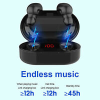 Mini Earbuds Stereo Headphones New Bluetooth 5.0 Headset TWS Wireless Earphones